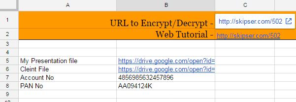 Decrypt Google Spreadsheet