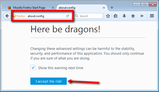 Mozilla Config