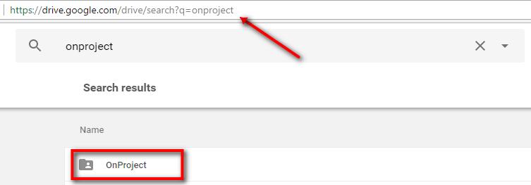 Search Google Drive results