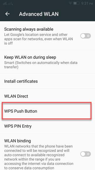WIFI WPS button