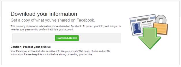 facebook download archive